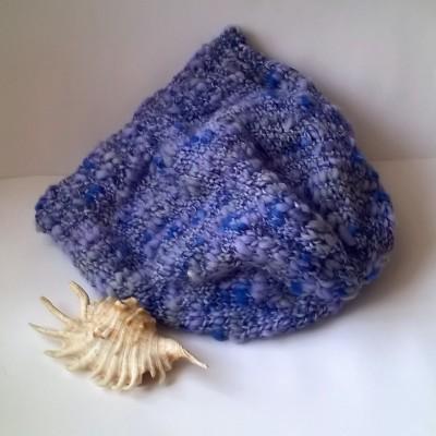 Čepice modrá vlna